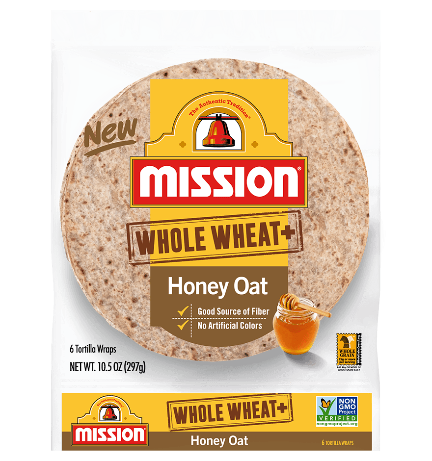 Whole Wheat+ Honey Oat Tortilla Wraps