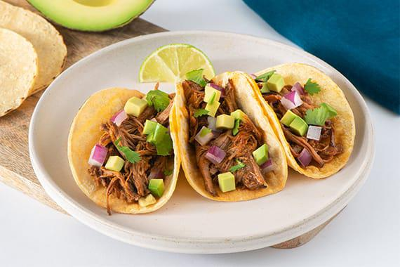 Instant Pot Shredded Beef Tacos Recipe Image