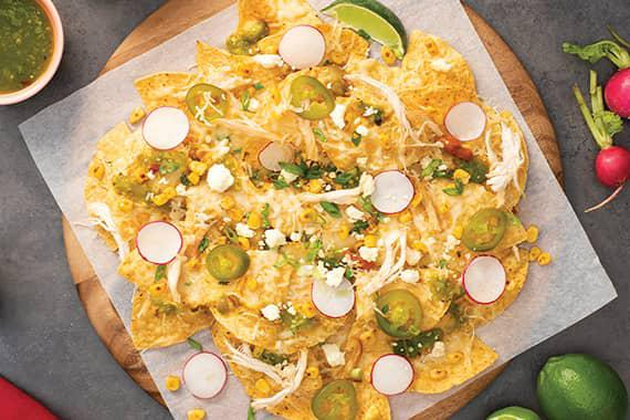 Mexican Street Corn and Chicken Nachos Recipe Image