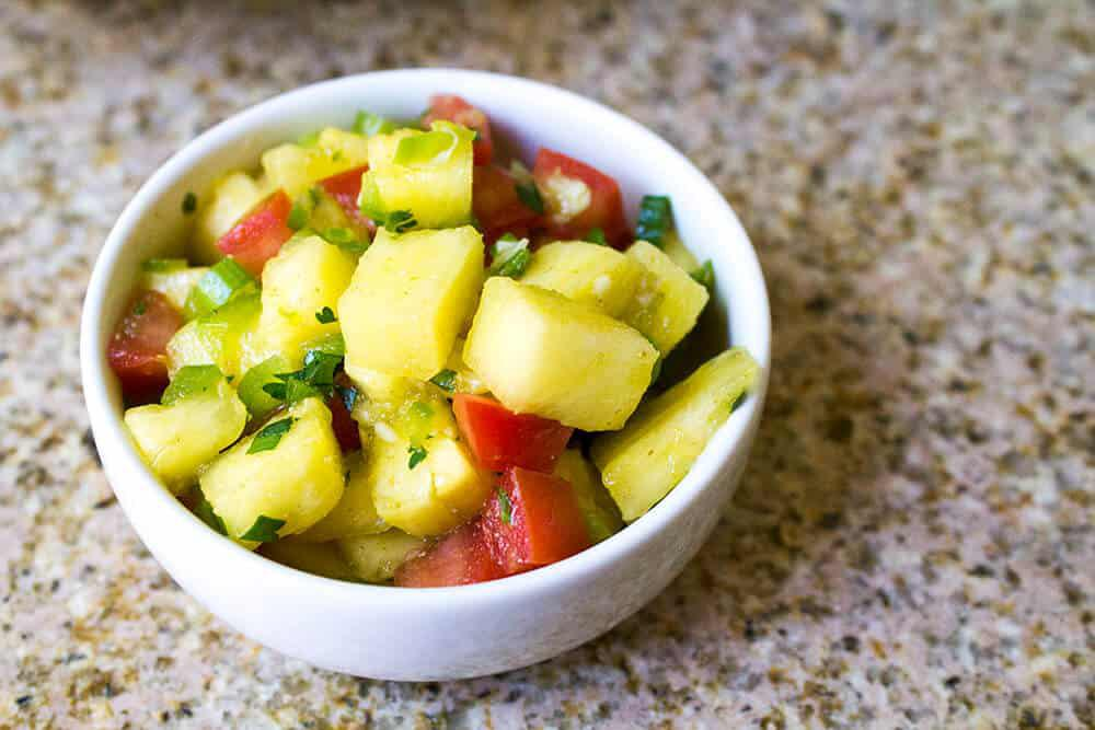 Fresh Pineapple and Cilantro Salsa Recipe Image