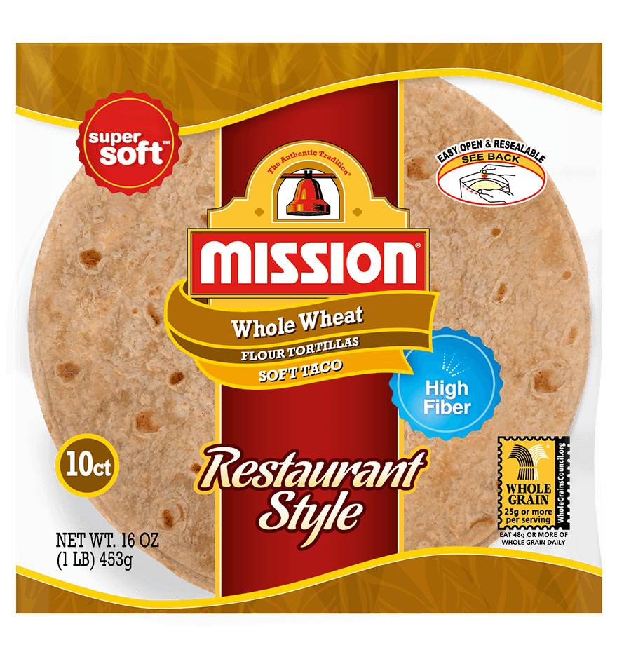 Thumbnail for Soft Taco Restaurant Style Whole Wheat Tortillas