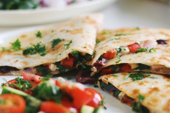 Mediterranean Quesadillas Recipe Image