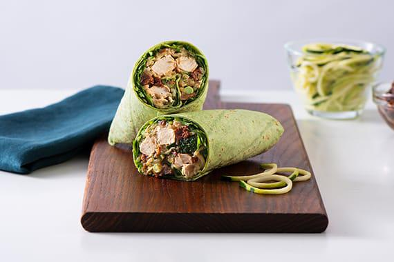 Vegan Chicken & Zoodles Wraps Recipe Image
